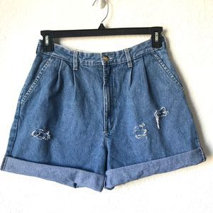 VINTAGE GV High Waist Distressed Jean Shorts